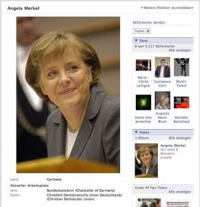 Angela Merkel in Facebook