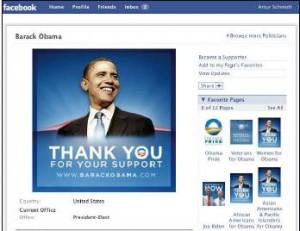 Obama in Facebook